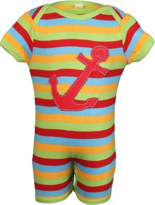 Nino Bambino Baby Boy's Multicolor Romper