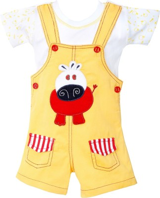 Chocoberry Baby Boy's Yellow Dungaree