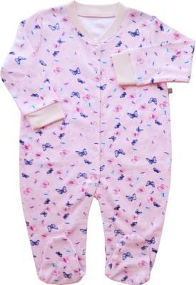 Babeez World Baby Girl's Pink Romper