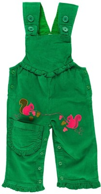 Snuggles Baby Girl's Green Dungaree