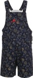 Benext Dungaree For Boys Solid Cotton (D...
