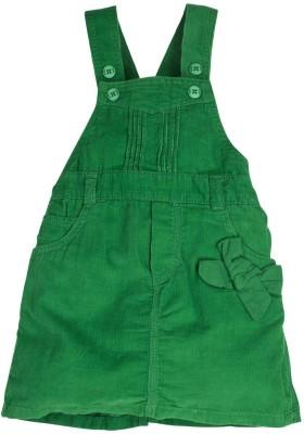 Oye Girl's Green Dungaree