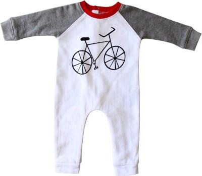Anthill Baby Boy's White Romper