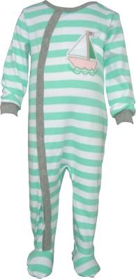 Teddy's choice Baby Boy's Green Romper