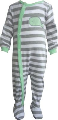 Teddy's choice Baby Boy's Grey Romper