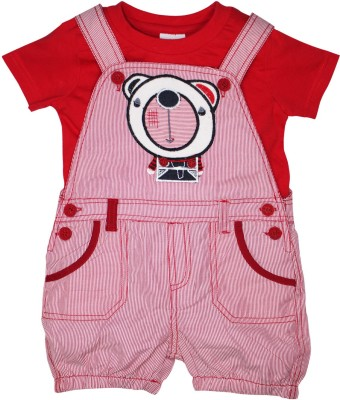 FS Mini Klub Baby Boy's Red Dungaree