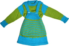 Nonch Le Dungaree For Girls Striped(Green)