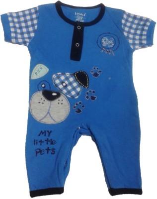 Johny Johny Yes papa Baby Boy's Blue Romper