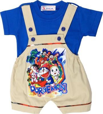 Xtrem Baby Boy's Beige, Blue Romper