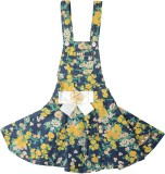 Yellow Pingo Dungaree For Girls Floral P...