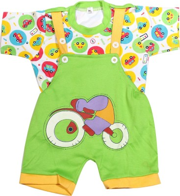 Babeezworld Baby Boy's Green Dungaree