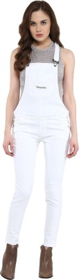CODE 61 Women's White Dungaree