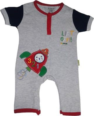 Johny Johny Yes Papa Baby Boy,s Grey Romper