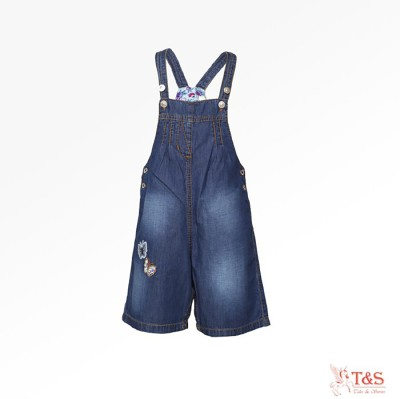 Tales & Stories Girl's Dark Blue Dungaree