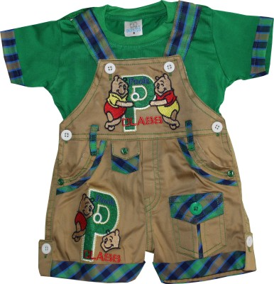 Oly Kids Baby Boy's Green Dungaree