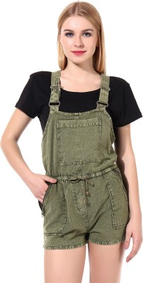 Oxolloxo Women's Green Dungaree
