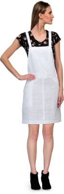 Yolo Designs Women's White Dungaree