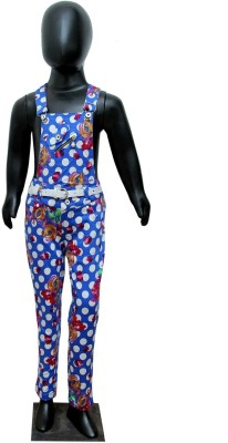 Sunday Casual Baby Girl's Multicolor Dungaree