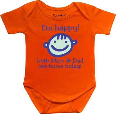 Tantra Baby Boy's Orange Romper