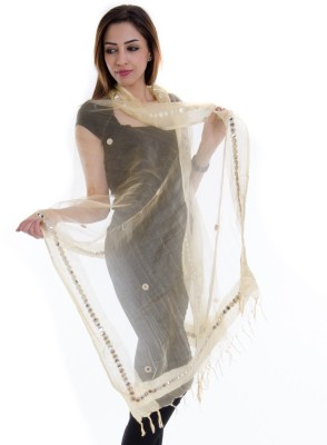 Home Shop Gift Tussar Silk Self Design Women's Dupatta