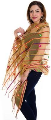 Ooltah Chashma Glass Tissue Striped Women's Dupatta