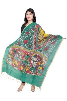 Ecostyle Chanderi Self Design Women's Dupatta