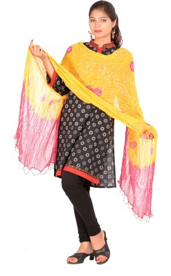 Pms Fashions Chanderi Printed Women's Dupatta