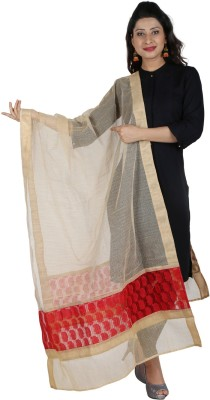 Etoles Chanderi Self Design Women's Dupatta
