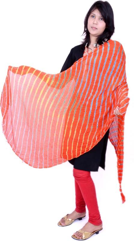 Ona'S Faux Georgette Striped Women's Dupatta