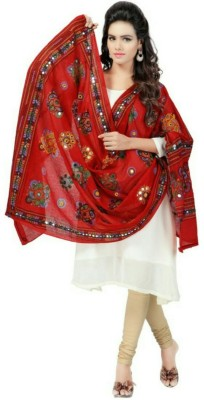 Shop Frenzy Cotton Embroidered Women's Dupatta at flipkart