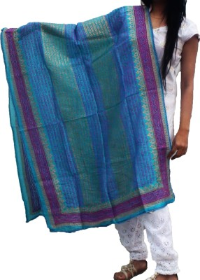 Tanuma Sales Silk Cotton Blend Embellished Women's Dupatta