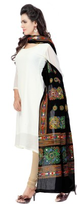 Banjara India Cotton Embroidered Womens Dupatta