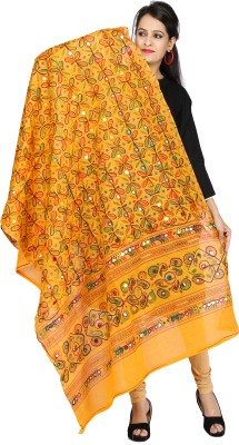 Banjara India Cotton Embroidered Women's Dupatta at flipkart