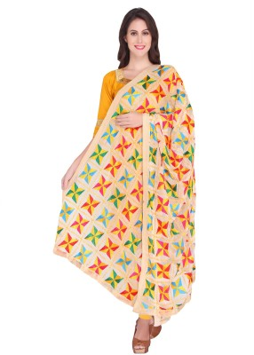 Dupatta Bazaar Faux Chiffon Embroidered Women's Dupatta at flipkart