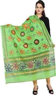 Banjara India Cotton Embroidered Women's Dupatta