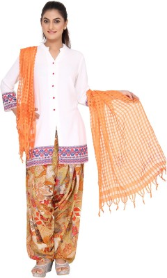Navyas Synthetic Crepe Checkered Women's Dupatta