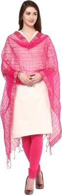 Dupatta Bazaar Silk Cotton Blend Checkered Women's Dupatta