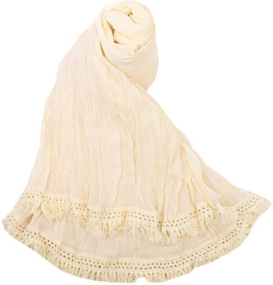 V Brown Kids Dupatta(White)
