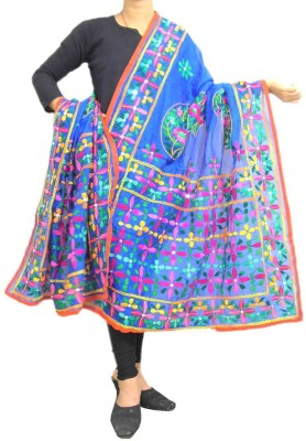 GiftPiper Chanderi Embroidered Women's Dupatta