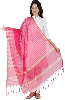 Etoles Chanderi Striped Women's Dupatta