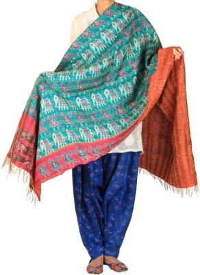 Hepburnette Pure Silk Self Design Women's Dupatta