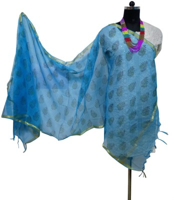 Toygully Art Silk, Chanderi, Silk Cotton Blend Geometric Print, Printed Women's Dupatta