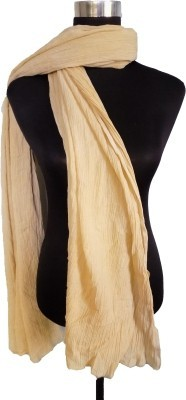 V Brown Faux Chiffon Solid Women's Dupatta at flipkart