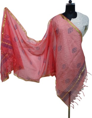 Toygully Chanderi, Art Silk Printed, Graphic Print, Geometric Print Women's Dupatta