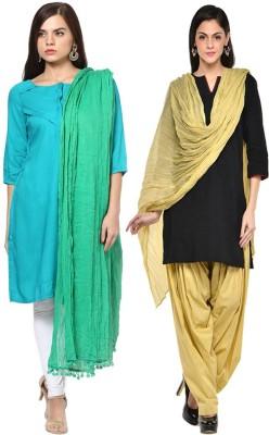 JUST CLIKK Cotton Solid Women's Dupatta