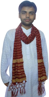 Kalra Creations Silk Cotton Blend Self Design Men's Dupatta
