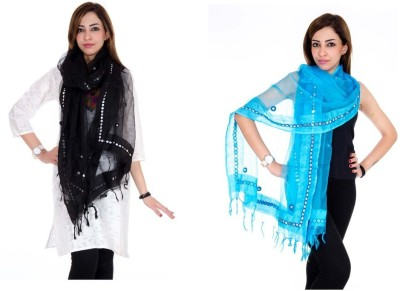Rangsthali Tussar Silk Self Design Women's Dupatta