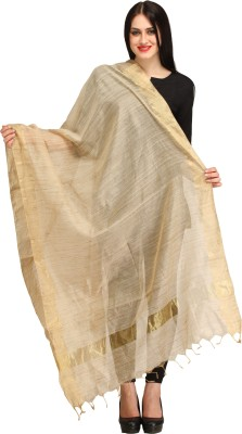 Aksara Raw Silk Solid Women,s Dupatta