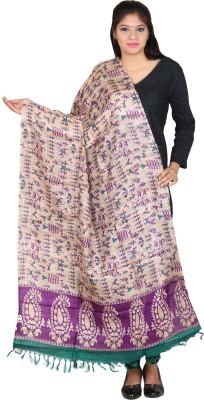Kaarubaki Tussar Silk Self Design Women's Dupatta