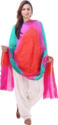 Kubuni Faux Chiffon Self Design Women's Dupatta